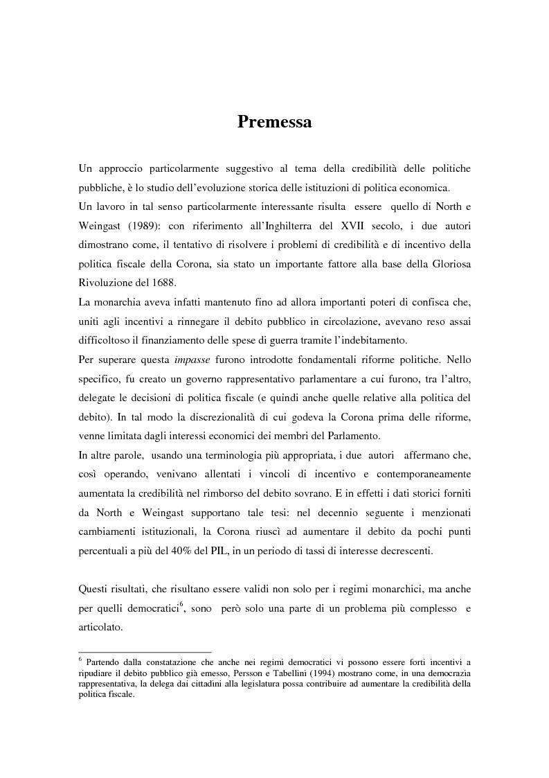 Anteprima della tesi: Il problema della credibilità delle politiche pubbliche, Pagina 12