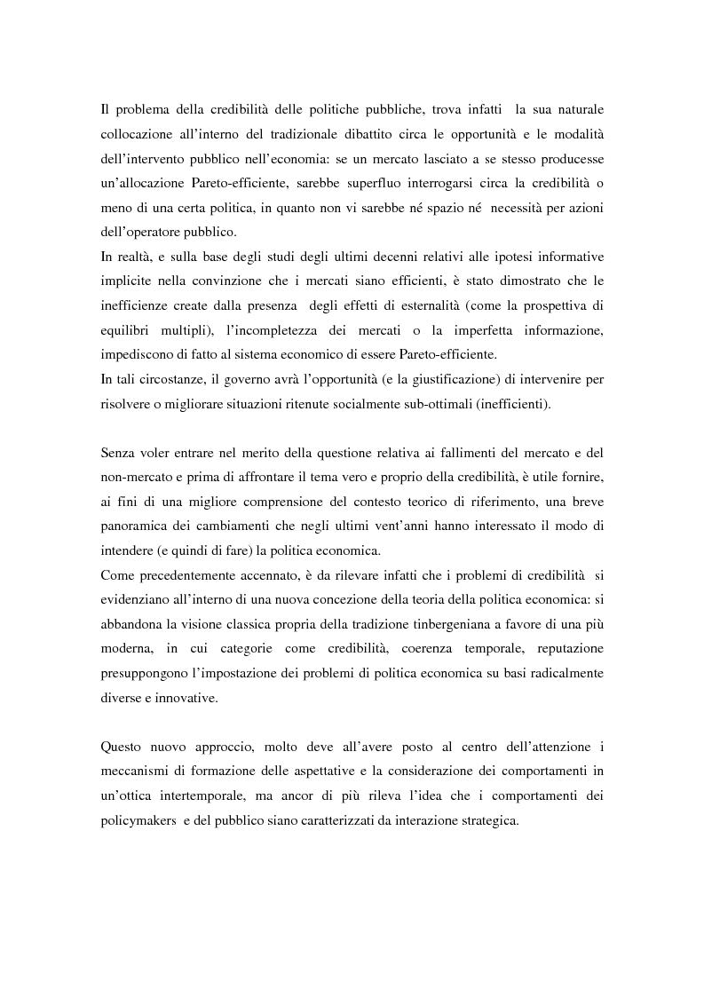 Anteprima della tesi: Il problema della credibilità delle politiche pubbliche, Pagina 13