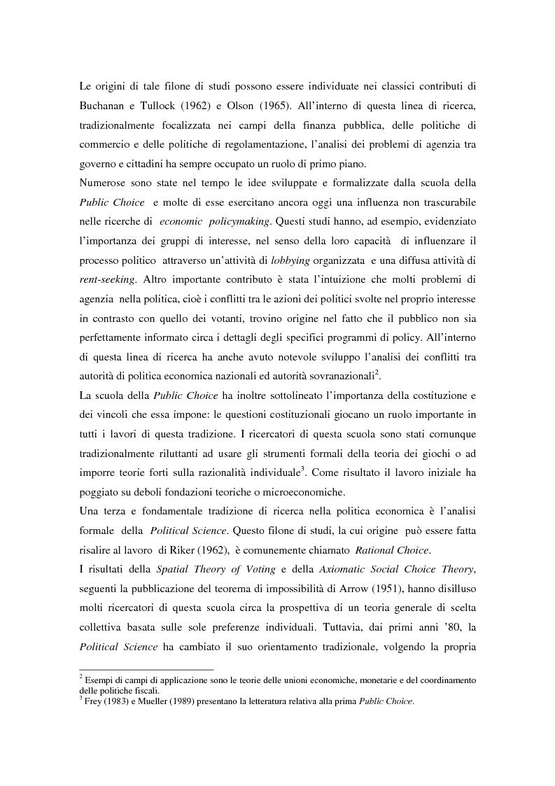 Anteprima della tesi: Il problema della credibilità delle politiche pubbliche, Pagina 3