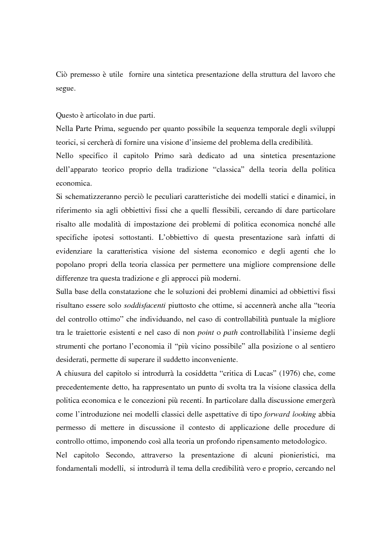 Anteprima della tesi: Il problema della credibilità delle politiche pubbliche, Pagina 5