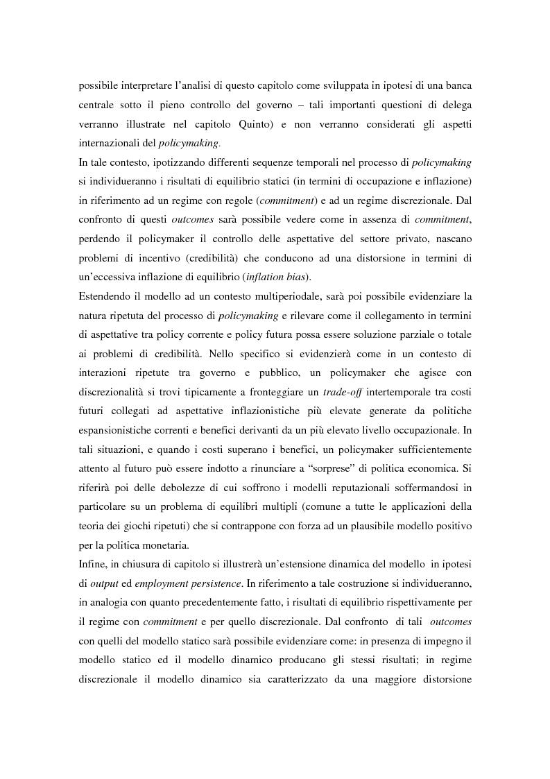 Anteprima della tesi: Il problema della credibilità delle politiche pubbliche, Pagina 8