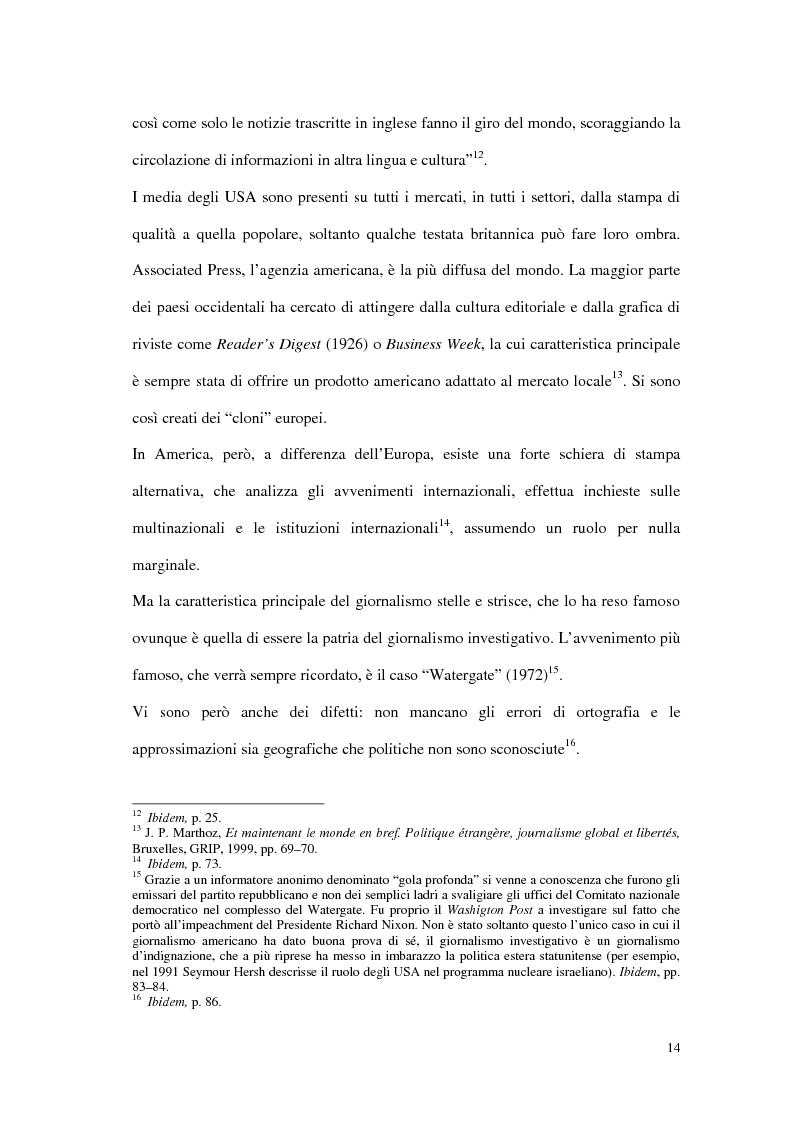 Anteprima della tesi: Il G8 a Genova nel confronto tra giornalismo tradizionale e informazione on-line, Pagina 10