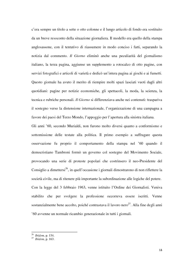 Anteprima della tesi: Il G8 a Genova nel confronto tra giornalismo tradizionale e informazione on-line, Pagina 14