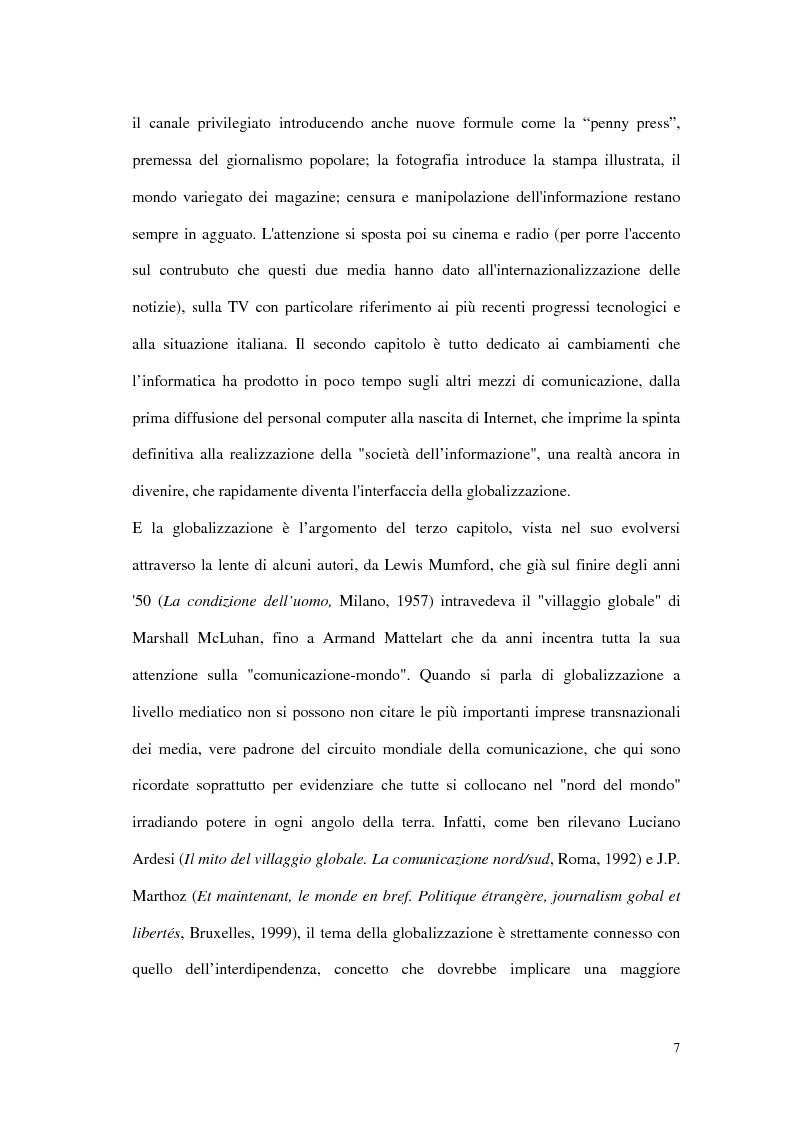 Anteprima della tesi: Il G8 a Genova nel confronto tra giornalismo tradizionale e informazione on-line, Pagina 3