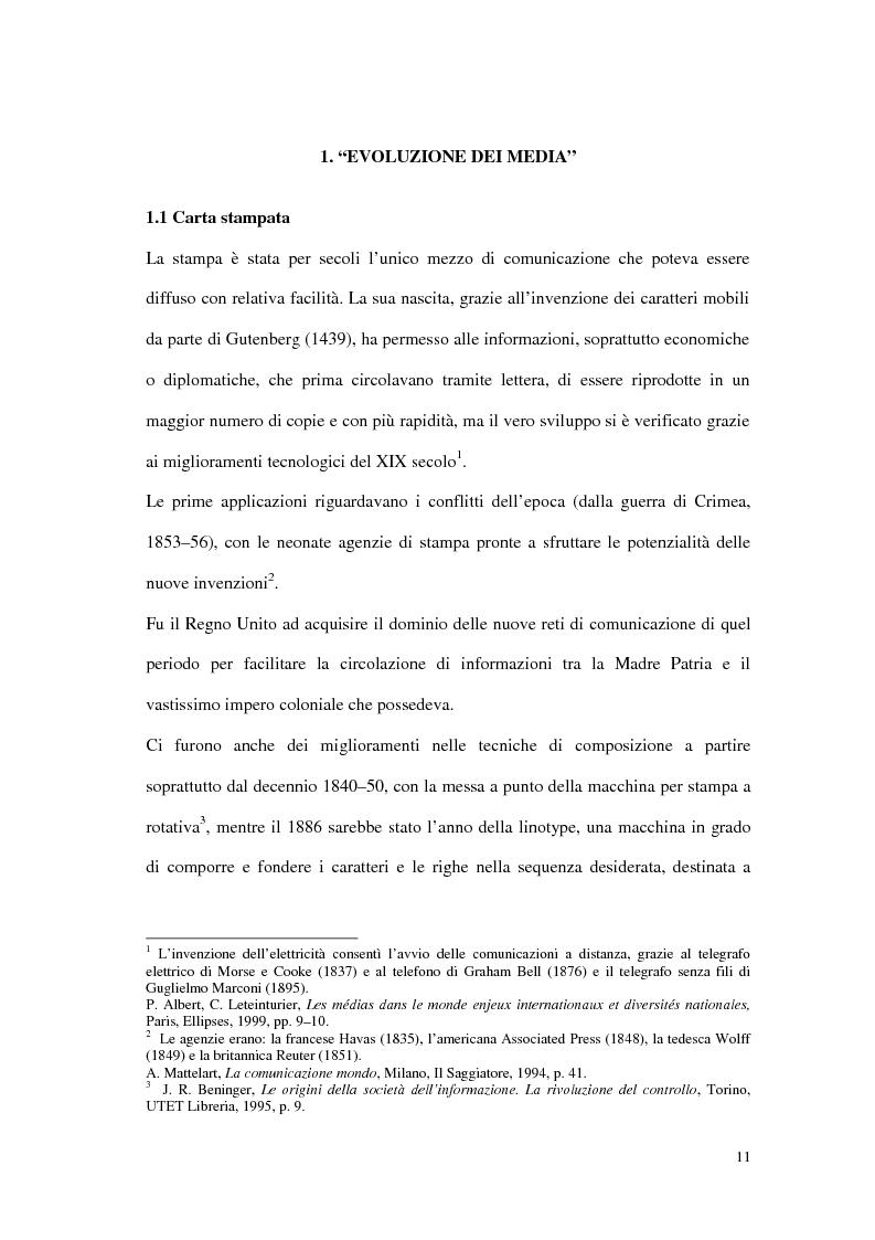Anteprima della tesi: Il G8 a Genova nel confronto tra giornalismo tradizionale e informazione on-line, Pagina 7