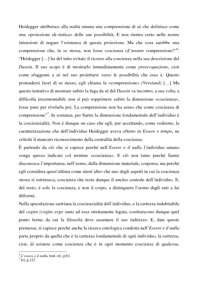 Anteprima della tesi: Il rapporto tra l'io e gli altri in Heidegger e Sartre, Pagina 3