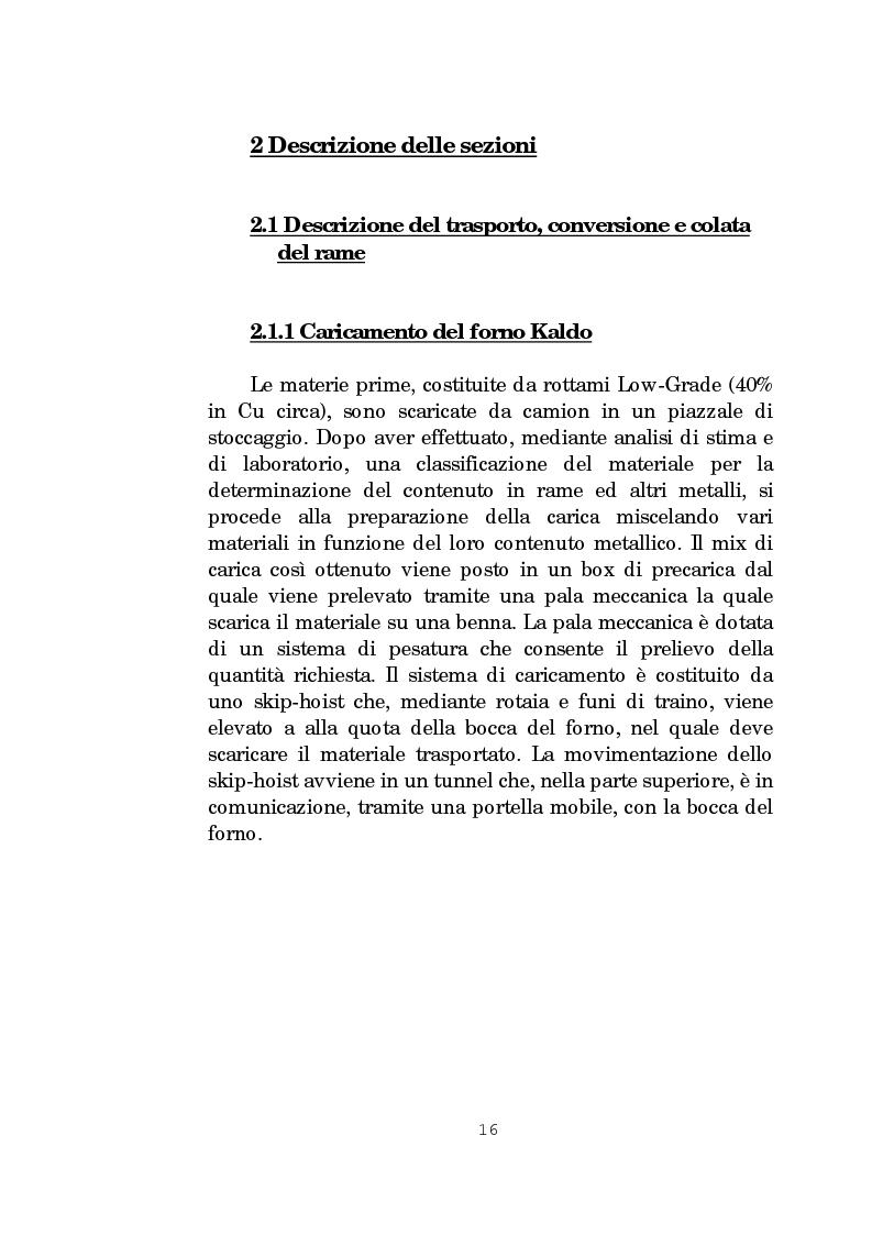 Anteprima della tesi: Il forno Kaldo: processi, macchine e impianti dello stabilimento Eni Risorse S.p.A. di Porto Marghera - Venezia, Pagina 10