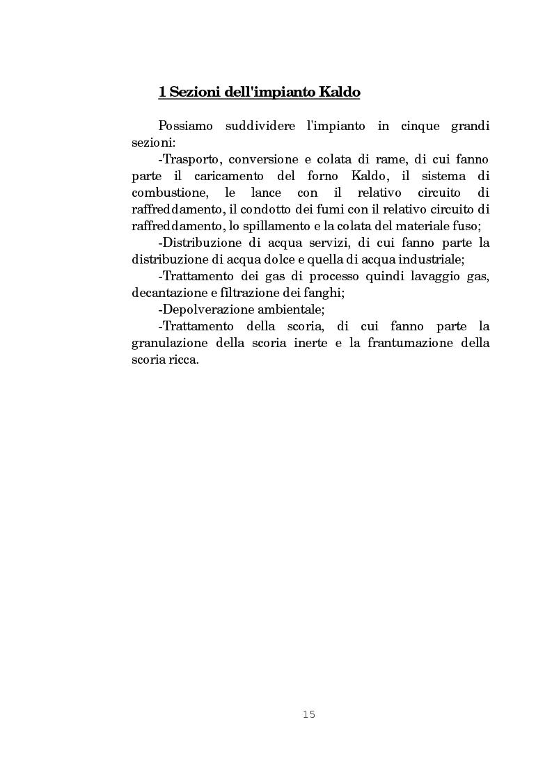 Anteprima della tesi: Il forno Kaldo: processi, macchine e impianti dello stabilimento Eni Risorse S.p.A. di Porto Marghera - Venezia, Pagina 9
