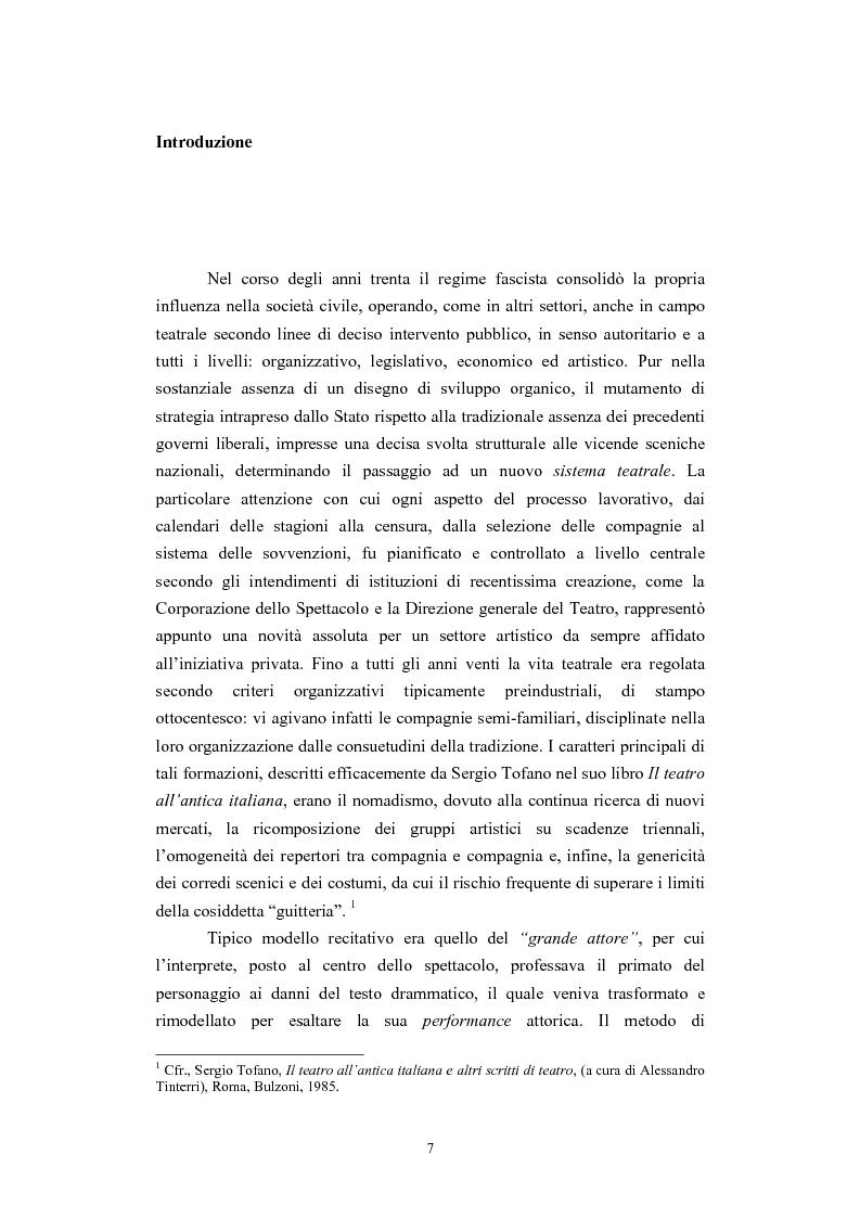 Anteprima della tesi: L'Accademia Nazionale e altre aperture teatrali in Italia nel secondo decennio del fascismo, Pagina 1