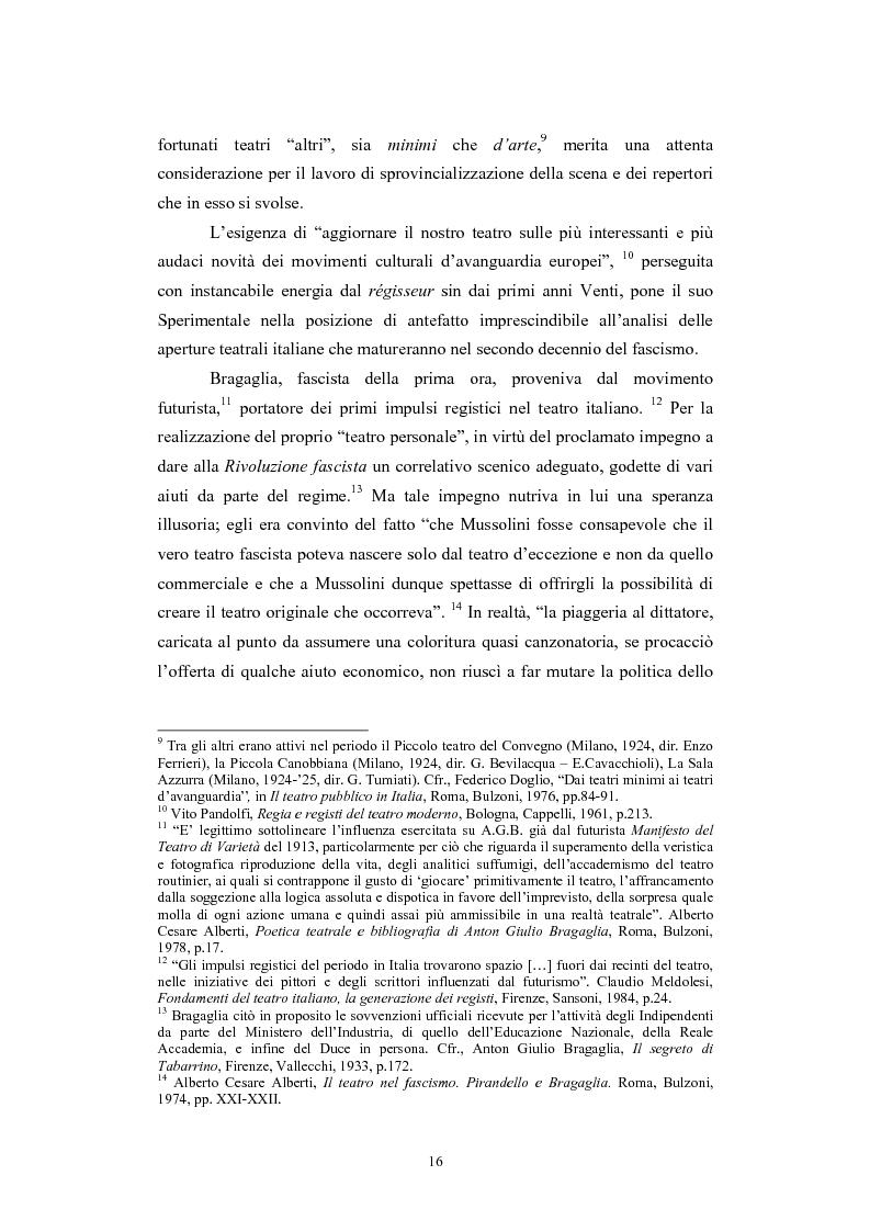 Anteprima della tesi: L'Accademia Nazionale e altre aperture teatrali in Italia nel secondo decennio del fascismo, Pagina 10