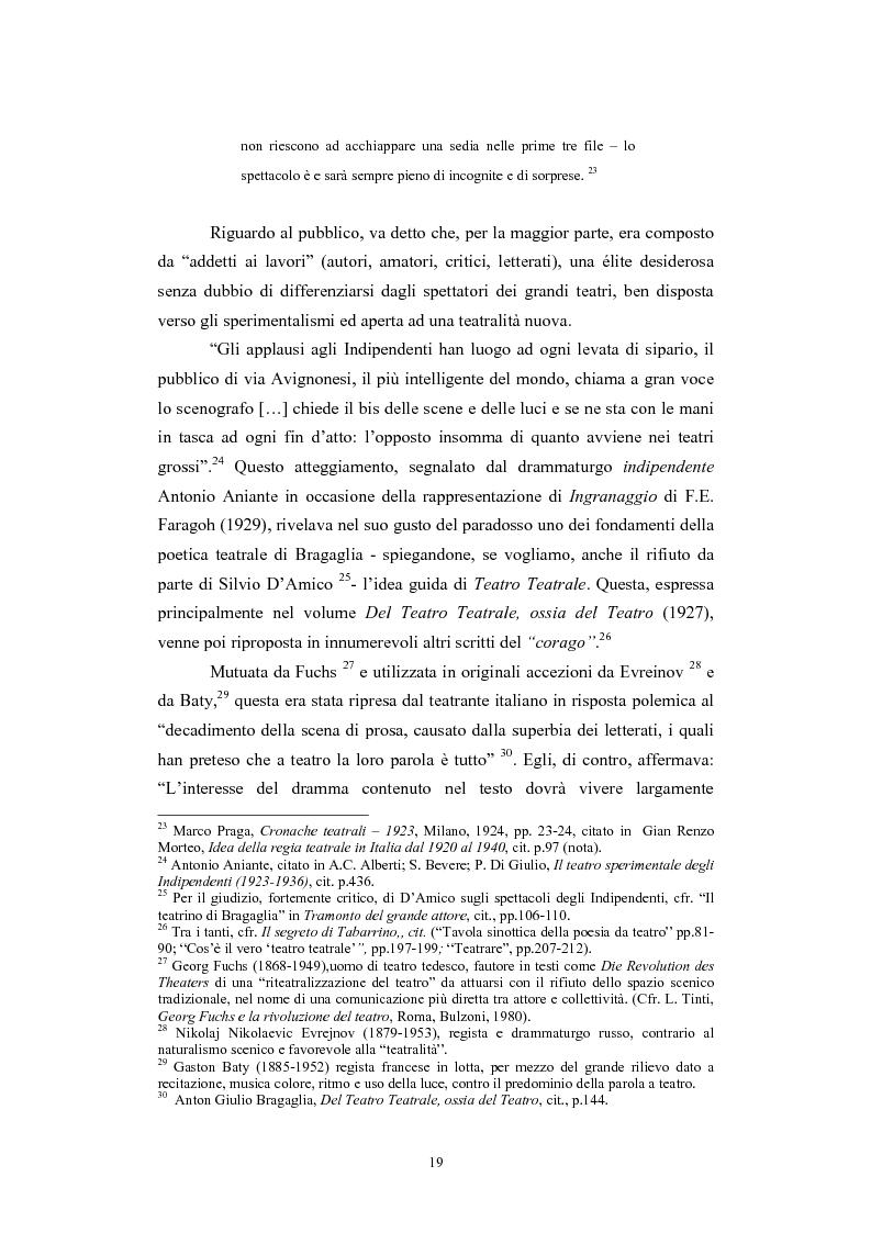Anteprima della tesi: L'Accademia Nazionale e altre aperture teatrali in Italia nel secondo decennio del fascismo, Pagina 13