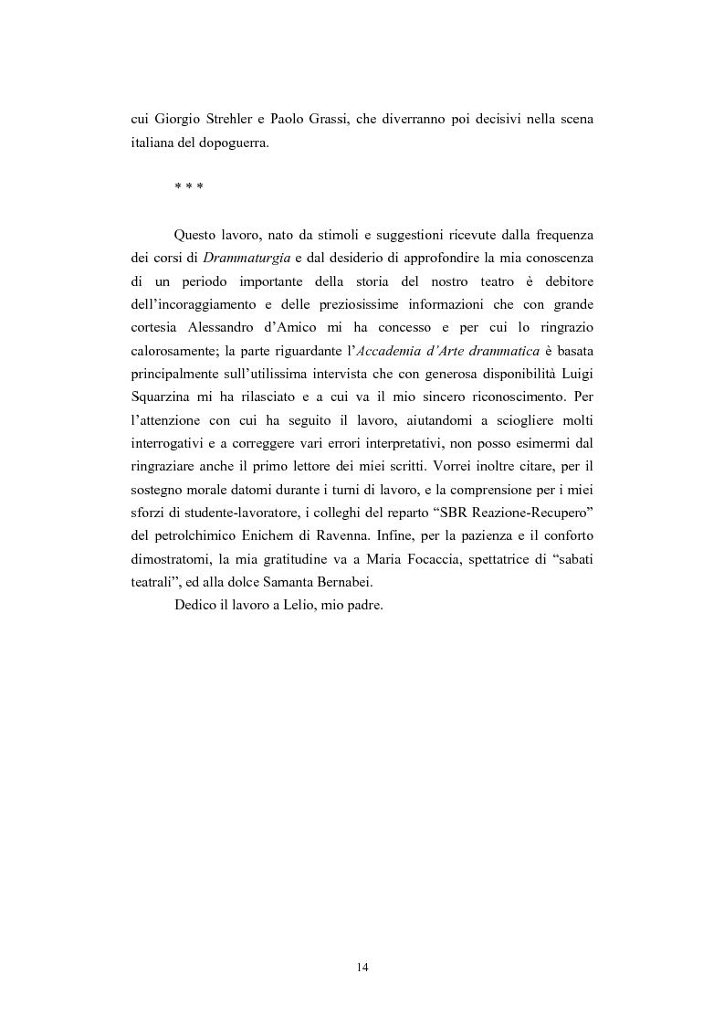 Anteprima della tesi: L'Accademia Nazionale e altre aperture teatrali in Italia nel secondo decennio del fascismo, Pagina 8