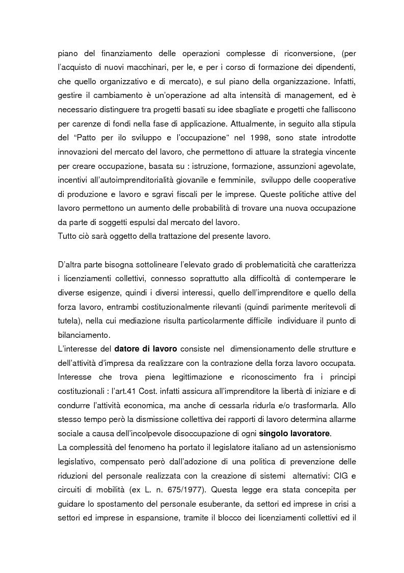 Anteprima della tesi: Personale in esubero in azienda, Pagina 4
