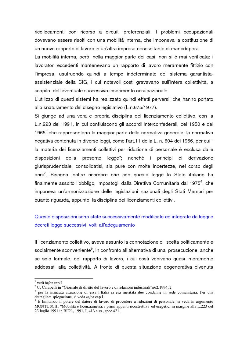 Anteprima della tesi: Personale in esubero in azienda, Pagina 5