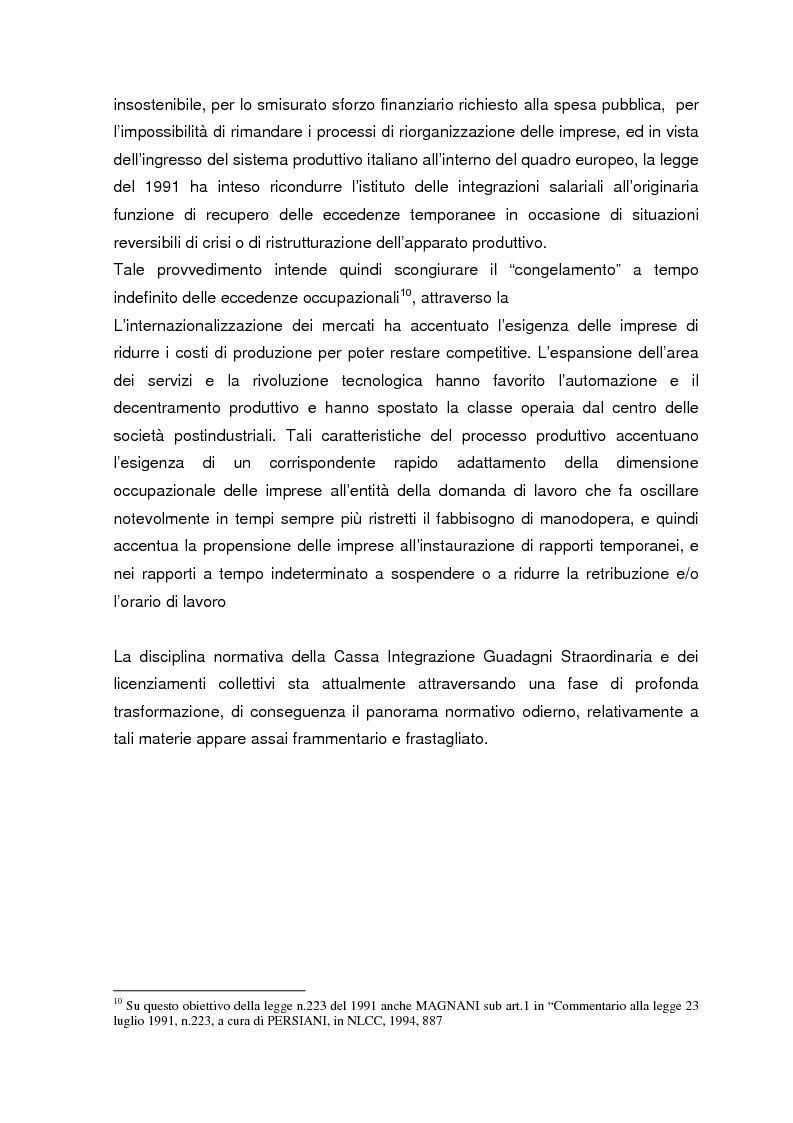 Anteprima della tesi: Personale in esubero in azienda, Pagina 6