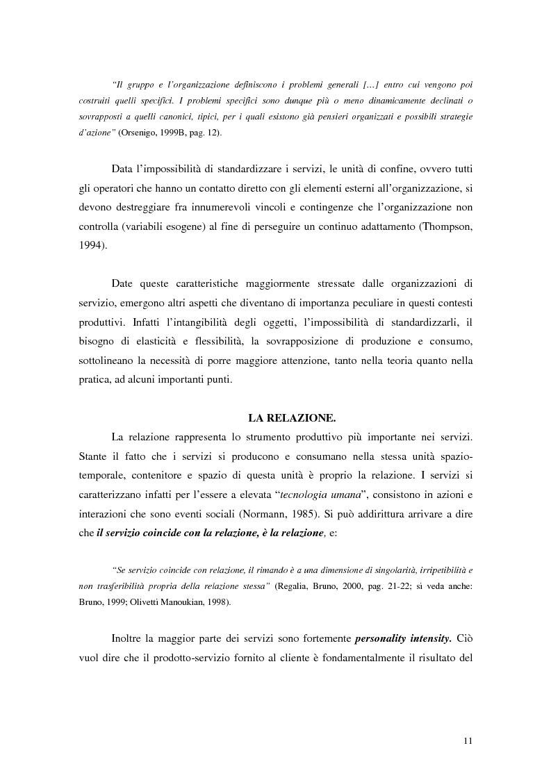 Anteprima della tesi: Migliorare la qualità nei servizi ospedalieri. Una ricerca di psicologia applicata, Pagina 11