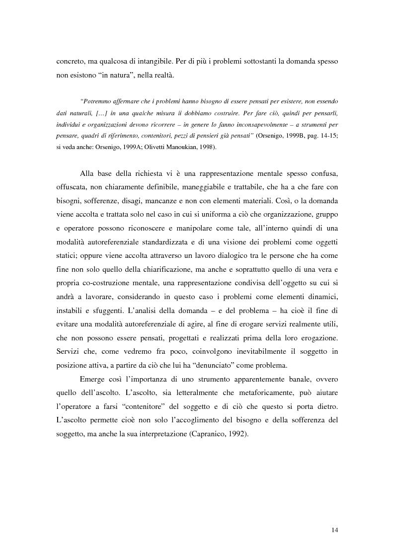 Anteprima della tesi: Migliorare la qualità nei servizi ospedalieri. Una ricerca di psicologia applicata, Pagina 14