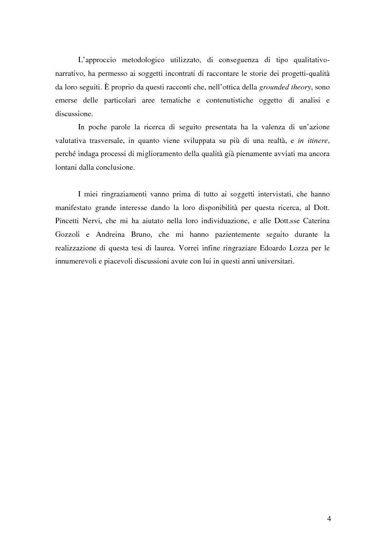 Anteprima della tesi: Migliorare la qualità nei servizi ospedalieri. Una ricerca di psicologia applicata, Pagina 4