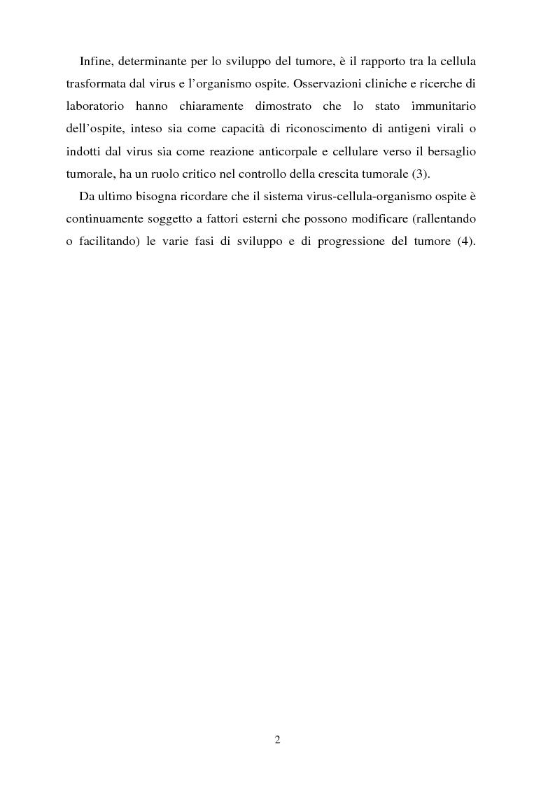 Anteprima della tesi: Cancro della cervice uterina ed espressione dell'oncoproteina HPV16 e7, Pagina 2