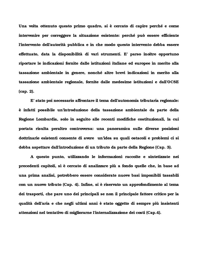 Anteprima della tesi: La tassazione ambientale regionale, Pagina 2