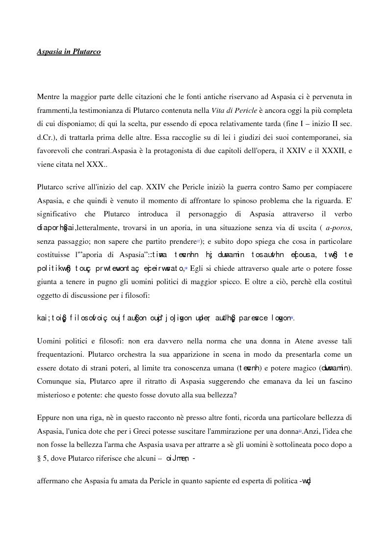 Anteprima della tesi: A scuola da Aspasia: uomini e donne tra retorica e politica nell'Atene del V secolo a.C., Pagina 6