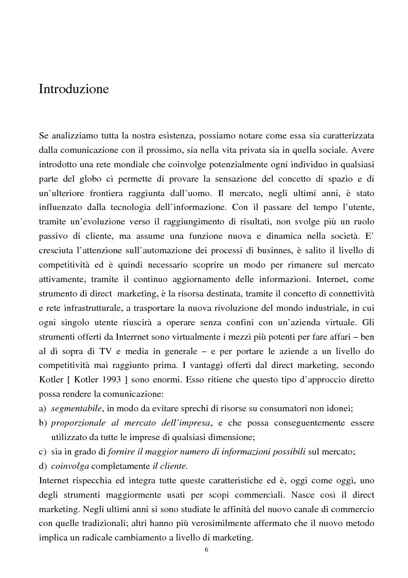 Anteprima della tesi: Internet come nuovo strumento di comunicazione e di vendita, Pagina 1
