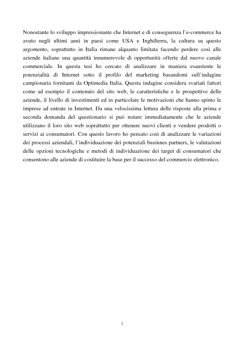 Anteprima della tesi: Internet come nuovo strumento di comunicazione e di vendita, Pagina 2