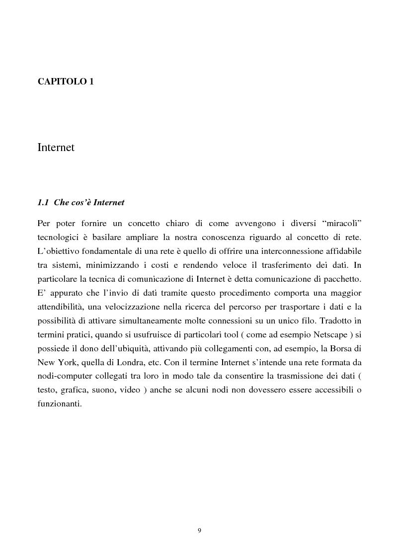 Anteprima della tesi: Internet come nuovo strumento di comunicazione e di vendita, Pagina 4