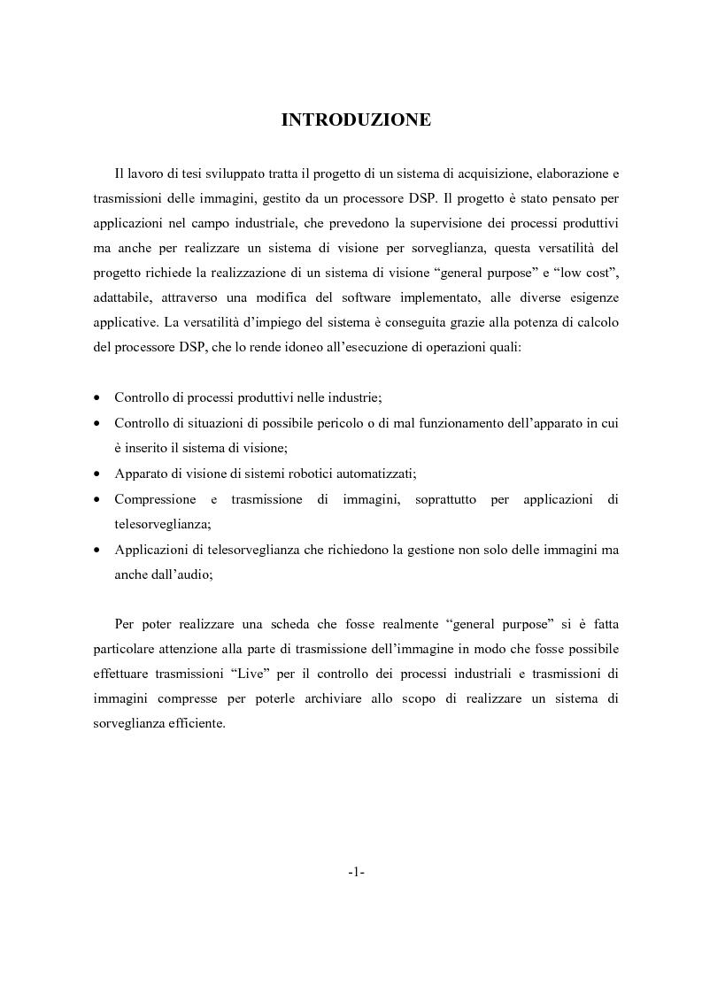 Anteprima della tesi: Scheda di acquisizione segnale video con DSP floating Point, Pagina 1