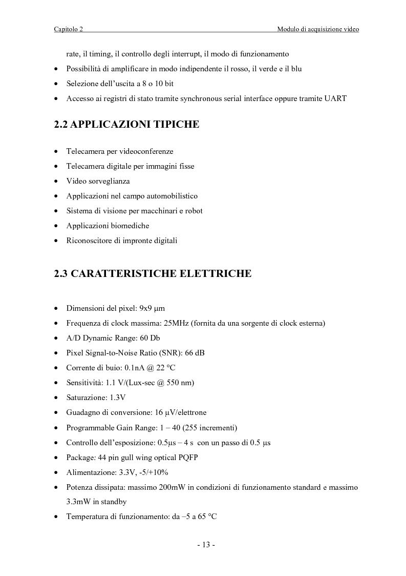 Anteprima della tesi: Scheda di acquisizione segnale video con DSP floating Point, Pagina 13