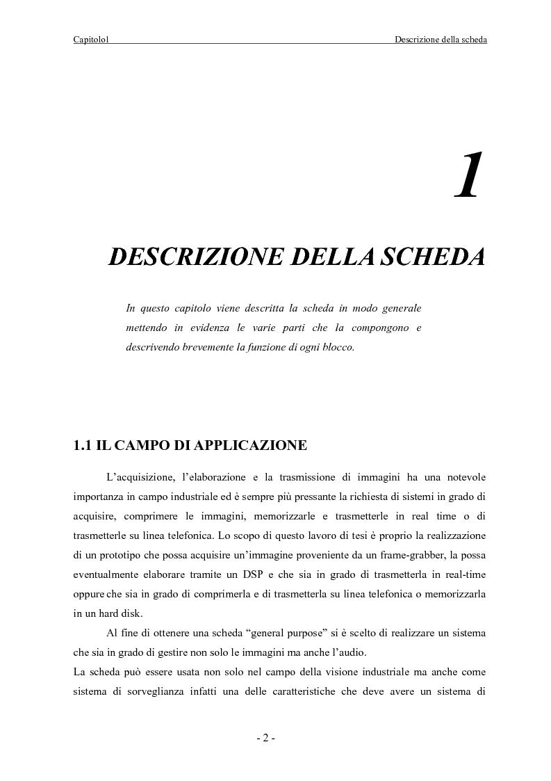 Anteprima della tesi: Scheda di acquisizione segnale video con DSP floating Point, Pagina 2