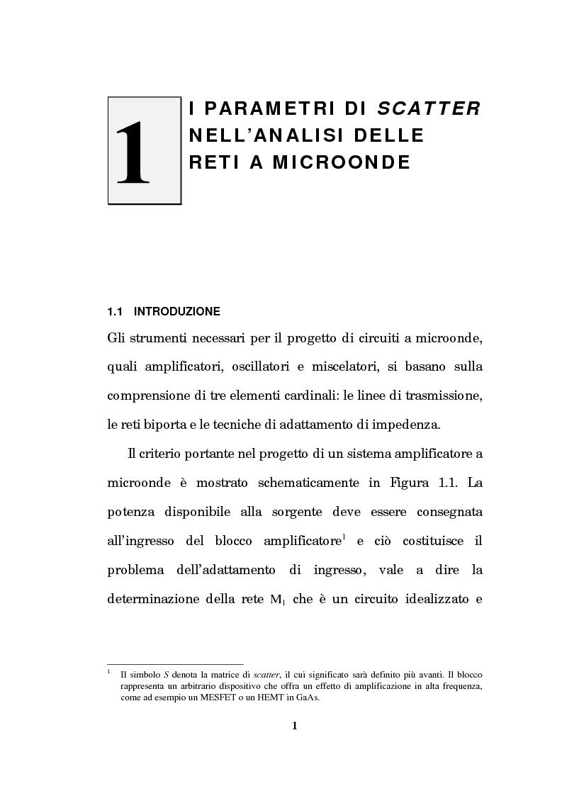 Anteprima della tesi: Un approccio CAD alla progettazione di sistemi amplificatori a microonde a basso rumore a stato solido nelle bande X, K, Pagina 14