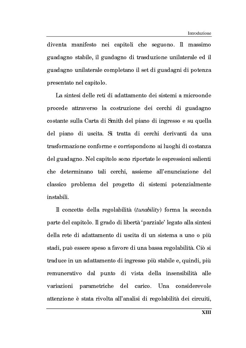 Anteprima della tesi: Un approccio CAD alla progettazione di sistemi amplificatori a microonde a basso rumore a stato solido nelle bande X, K, Pagina 8