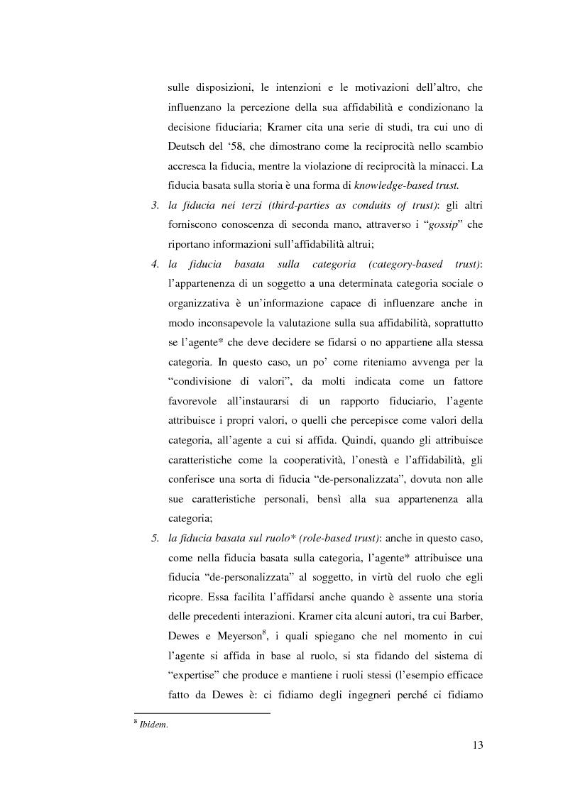 Anteprima della tesi: Le relazioni di fiducia nella gestione della conoscenza nelle organizzazioni, Pagina 7