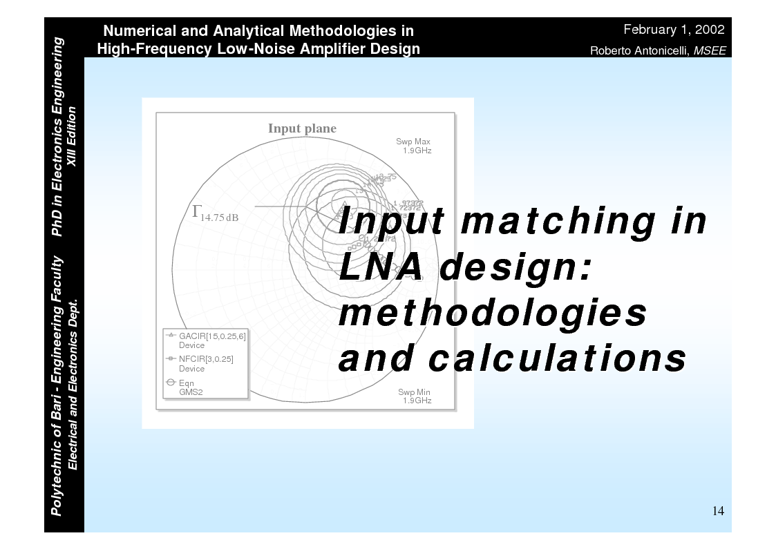 Anteprima della tesi: Numerical and Analytical Methodologies in High-Frequency Low-Noise Amplifier Design, Pagina 14