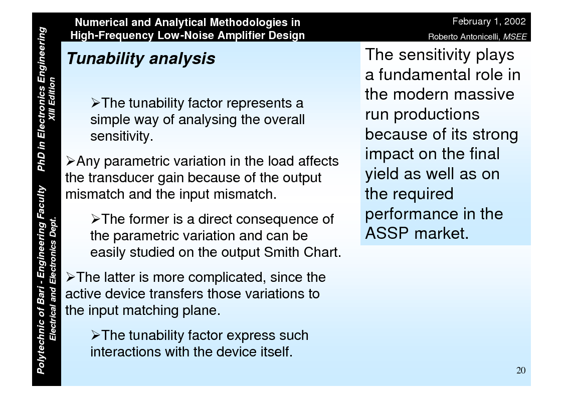 Anteprima della tesi: Numerical and Analytical Methodologies in High-Frequency Low-Noise Amplifier Design, Pagina 20