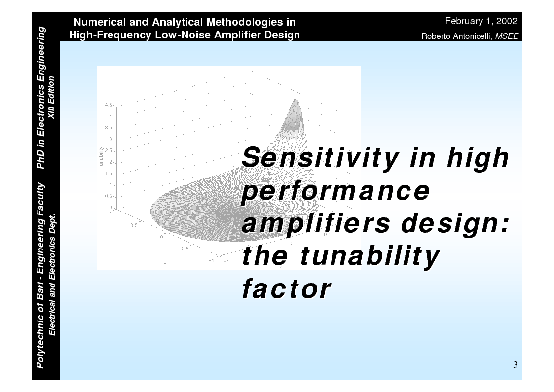 Anteprima della tesi: Numerical and Analytical Methodologies in High-Frequency Low-Noise Amplifier Design, Pagina 3