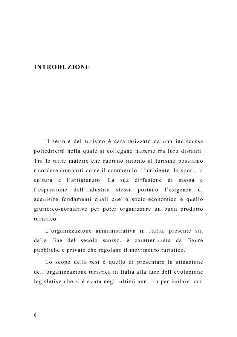 Anteprima della tesi: Le organizzazioni turistiche in Italia. Il caso delle Province autonome di Trento e Bolzano, Pagina 1