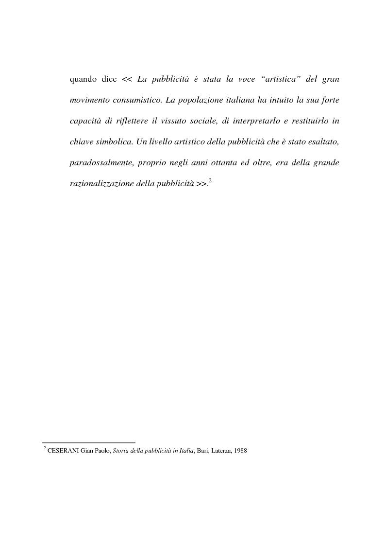 Anteprima della tesi: L'evoluzione del linguaggio pubblicitario della Barilla (dal 1910 al 2001), Pagina 10