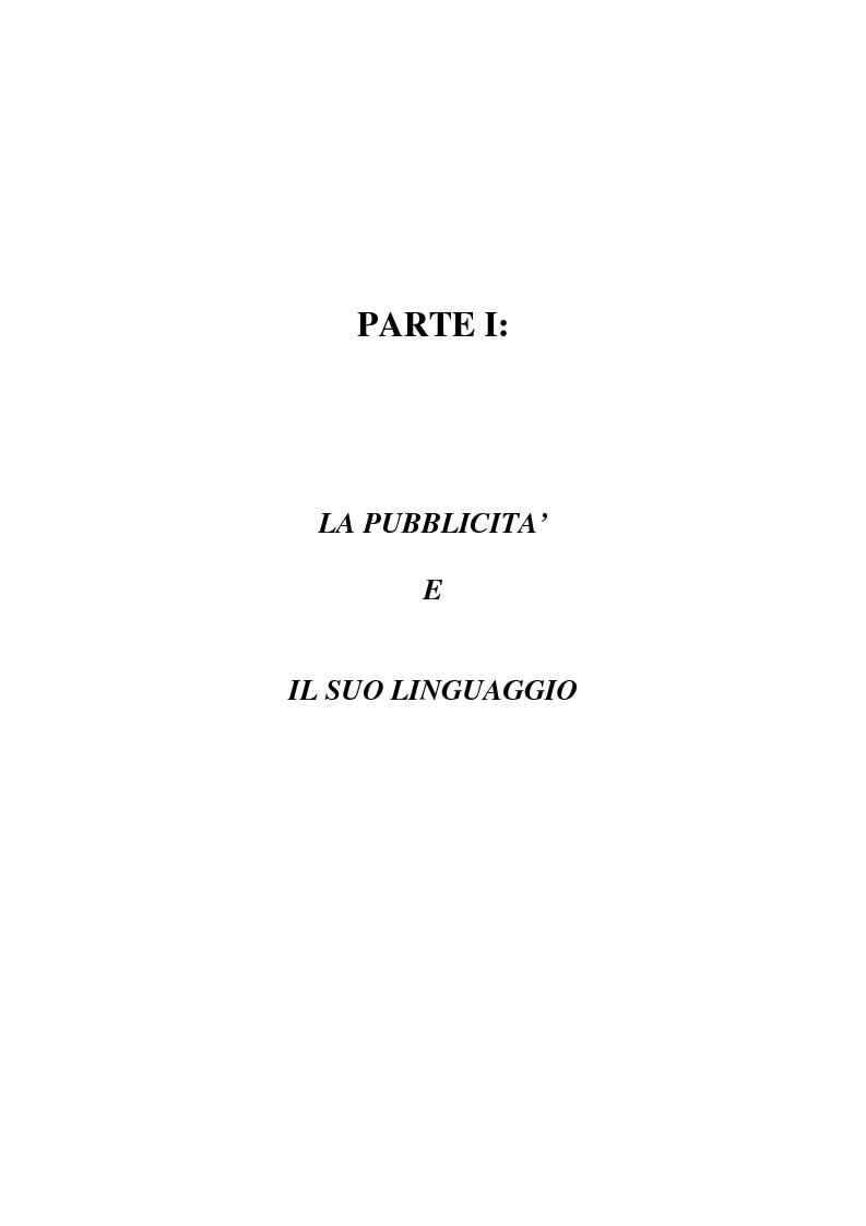 Anteprima della tesi: L'evoluzione del linguaggio pubblicitario della Barilla (dal 1910 al 2001), Pagina 11