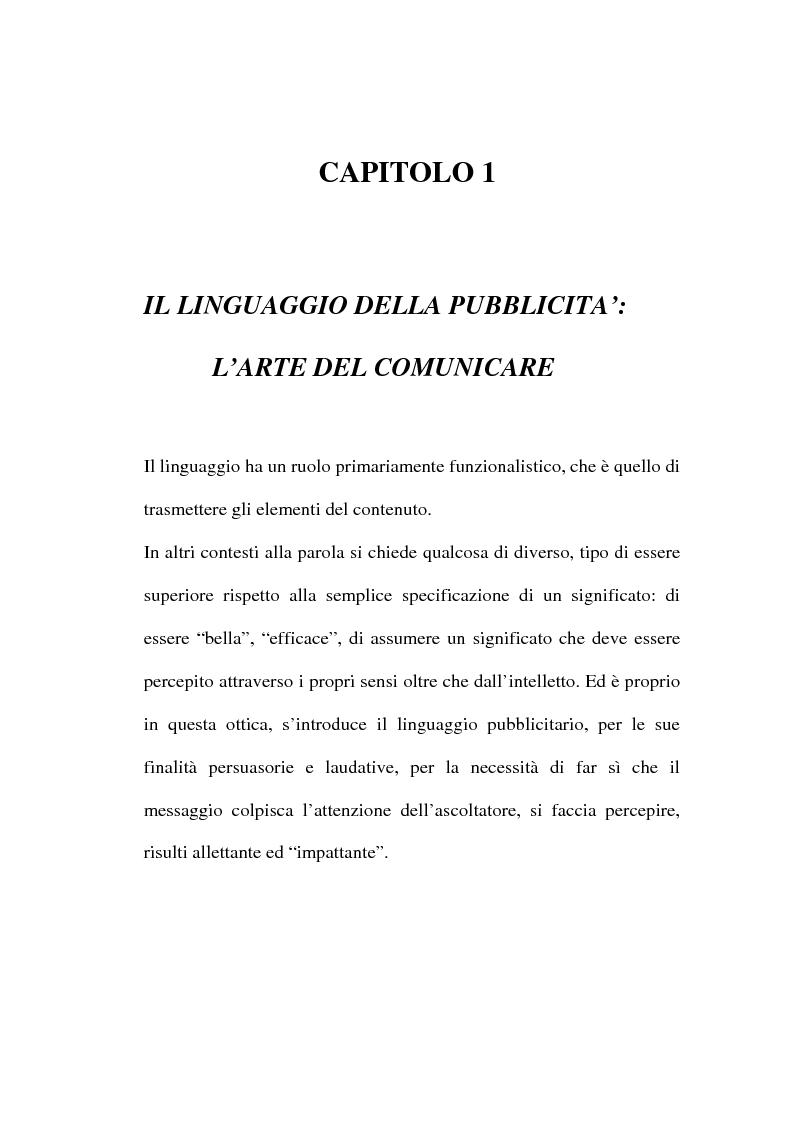 Anteprima della tesi: L'evoluzione del linguaggio pubblicitario della Barilla (dal 1910 al 2001), Pagina 12