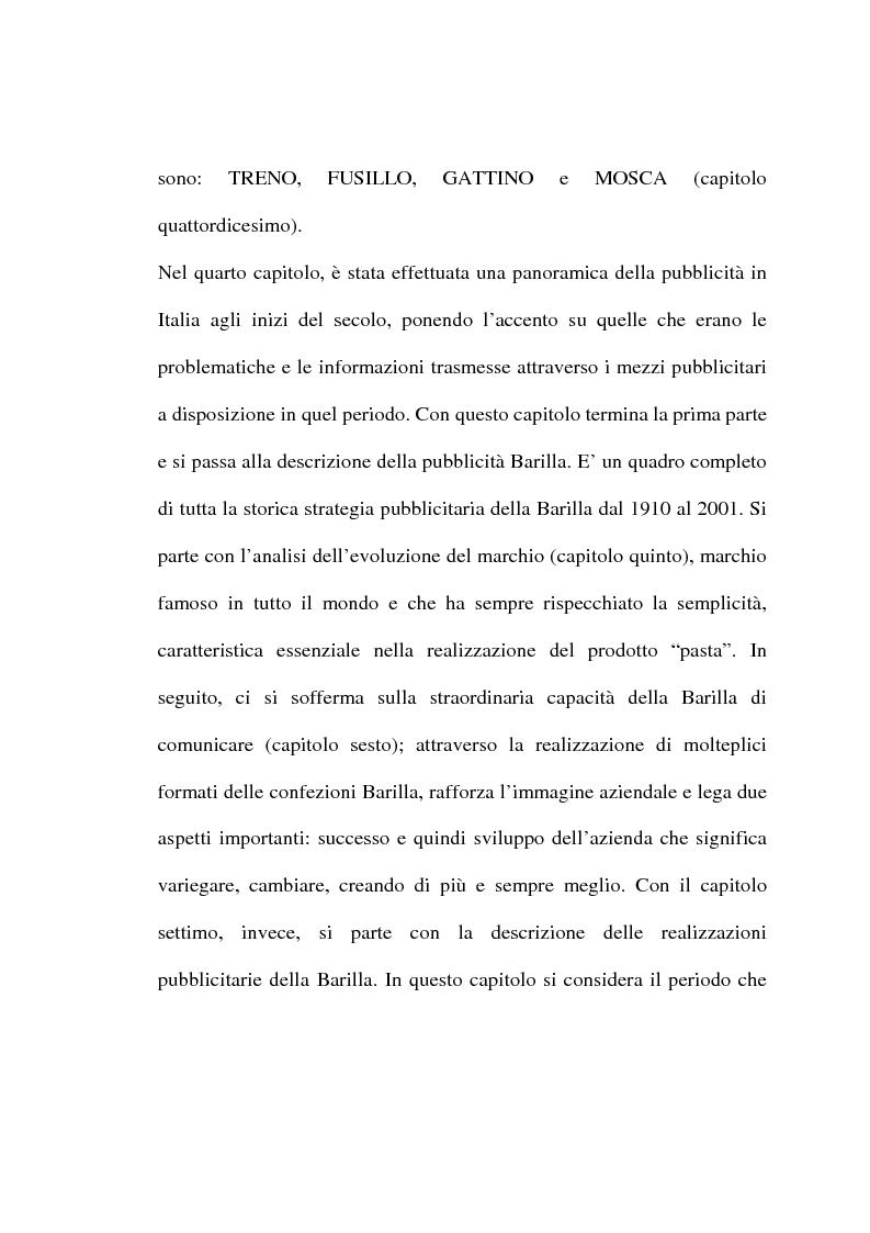 Anteprima della tesi: L'evoluzione del linguaggio pubblicitario della Barilla (dal 1910 al 2001), Pagina 4