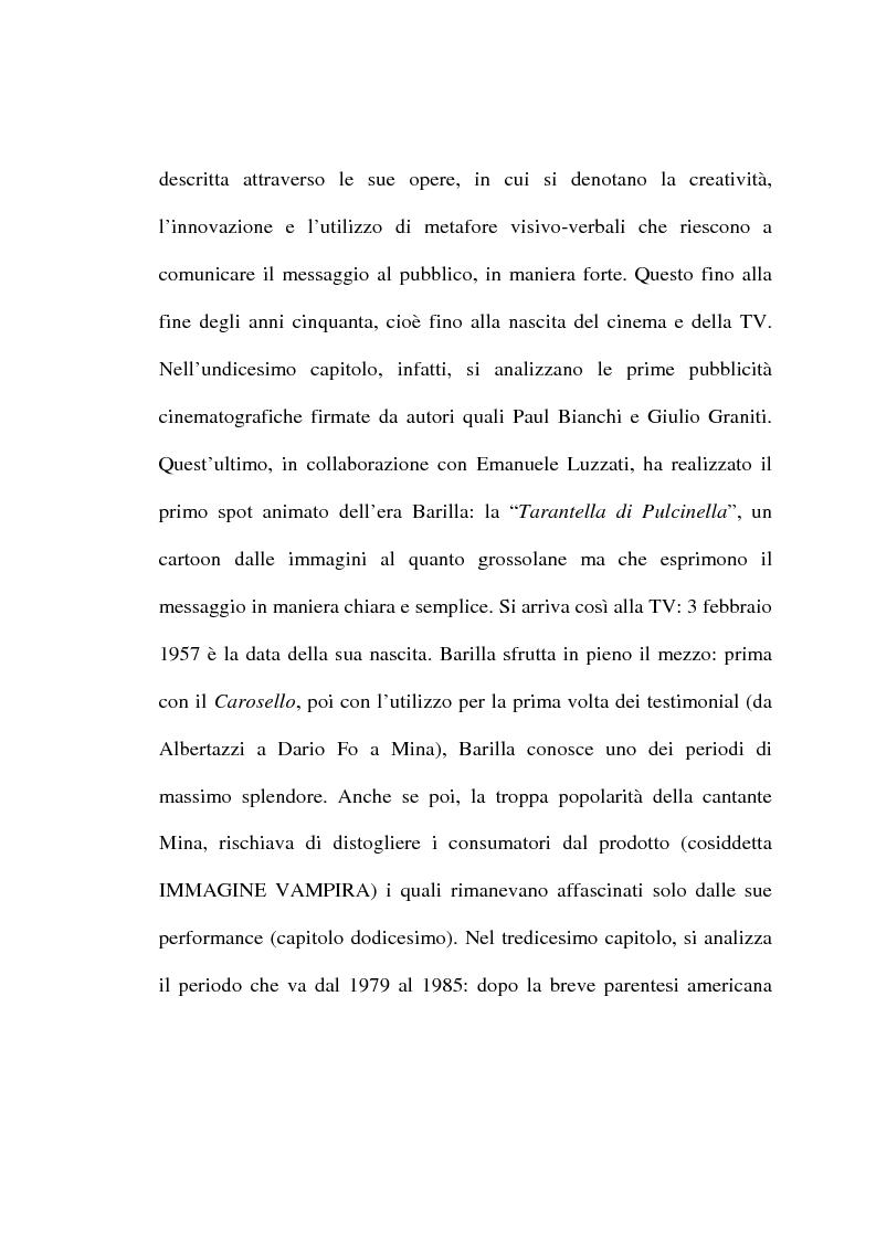 Anteprima della tesi: L'evoluzione del linguaggio pubblicitario della Barilla (dal 1910 al 2001), Pagina 6