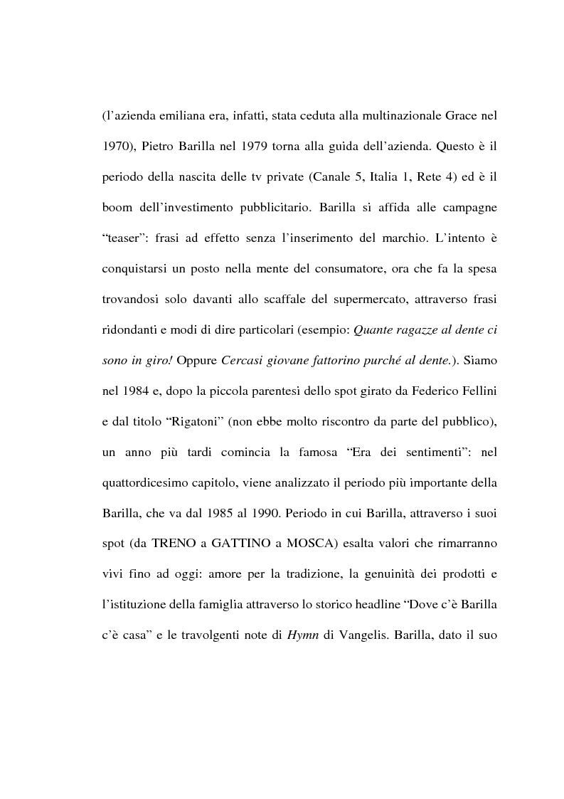 Anteprima della tesi: L'evoluzione del linguaggio pubblicitario della Barilla (dal 1910 al 2001), Pagina 7