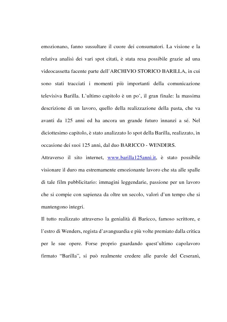 Anteprima della tesi: L'evoluzione del linguaggio pubblicitario della Barilla (dal 1910 al 2001), Pagina 9