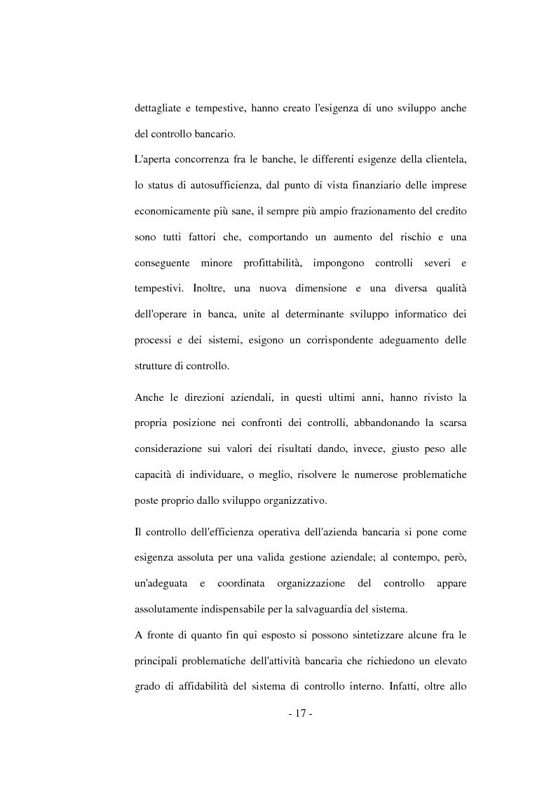 Anteprima della tesi: La funzione del controllo in banca, Pagina 13