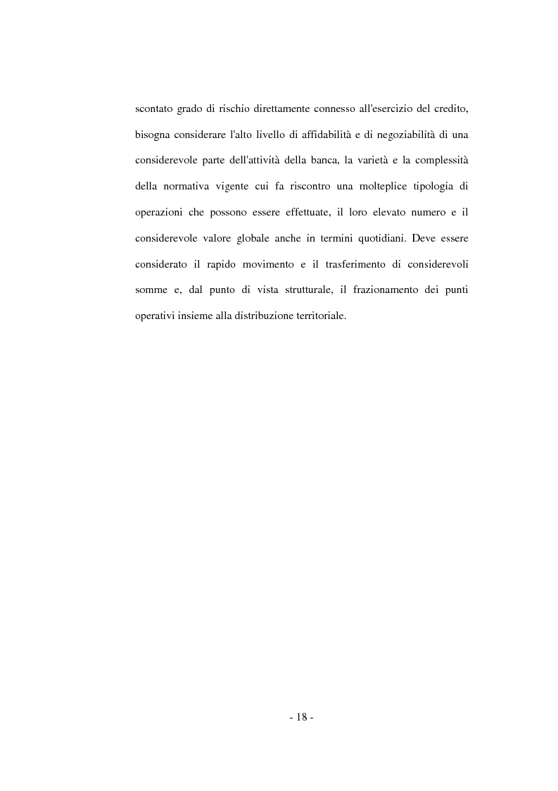 Anteprima della tesi: La funzione del controllo in banca, Pagina 14