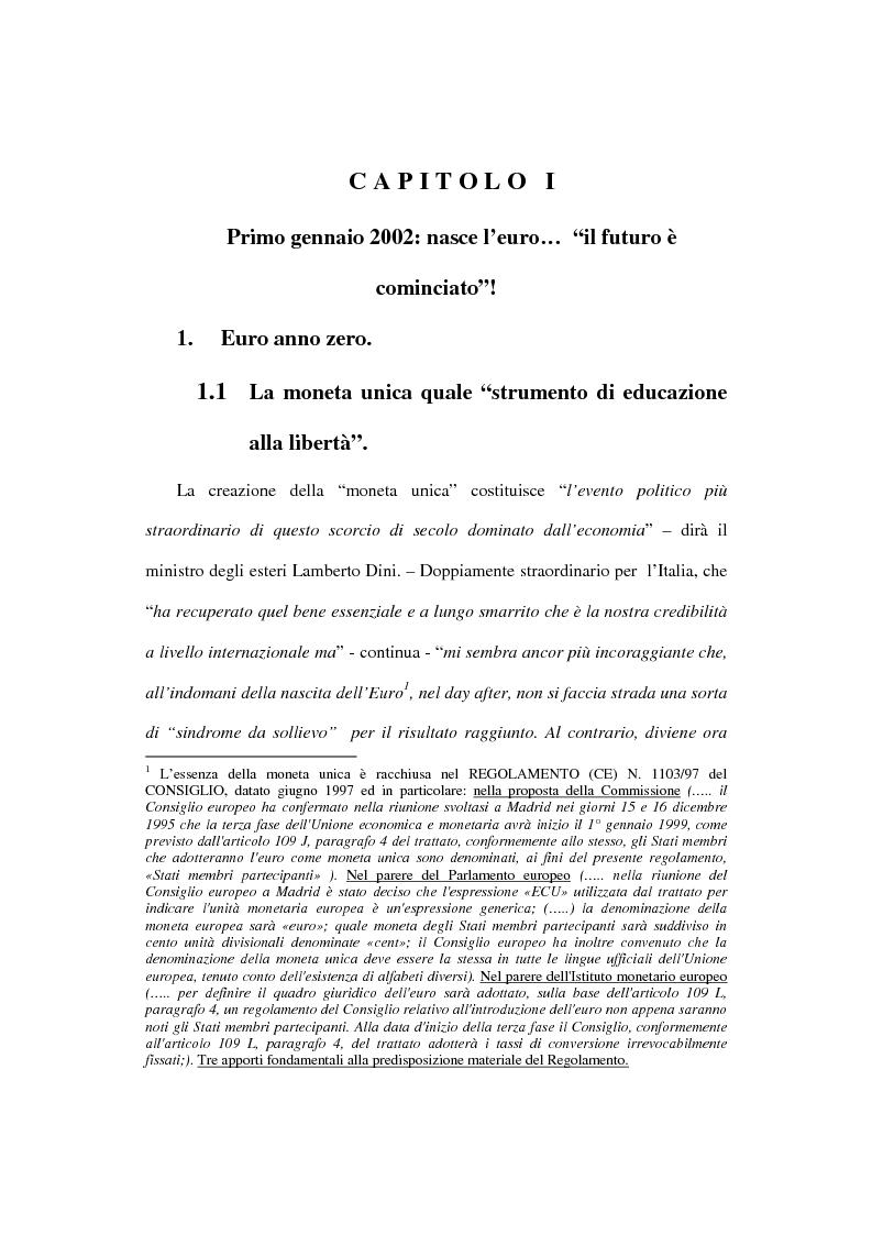 Anteprima della tesi: L'euro e i cittadini: aspettative e timori, Pagina 10