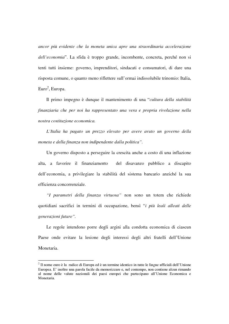 Anteprima della tesi: L'euro e i cittadini: aspettative e timori, Pagina 11