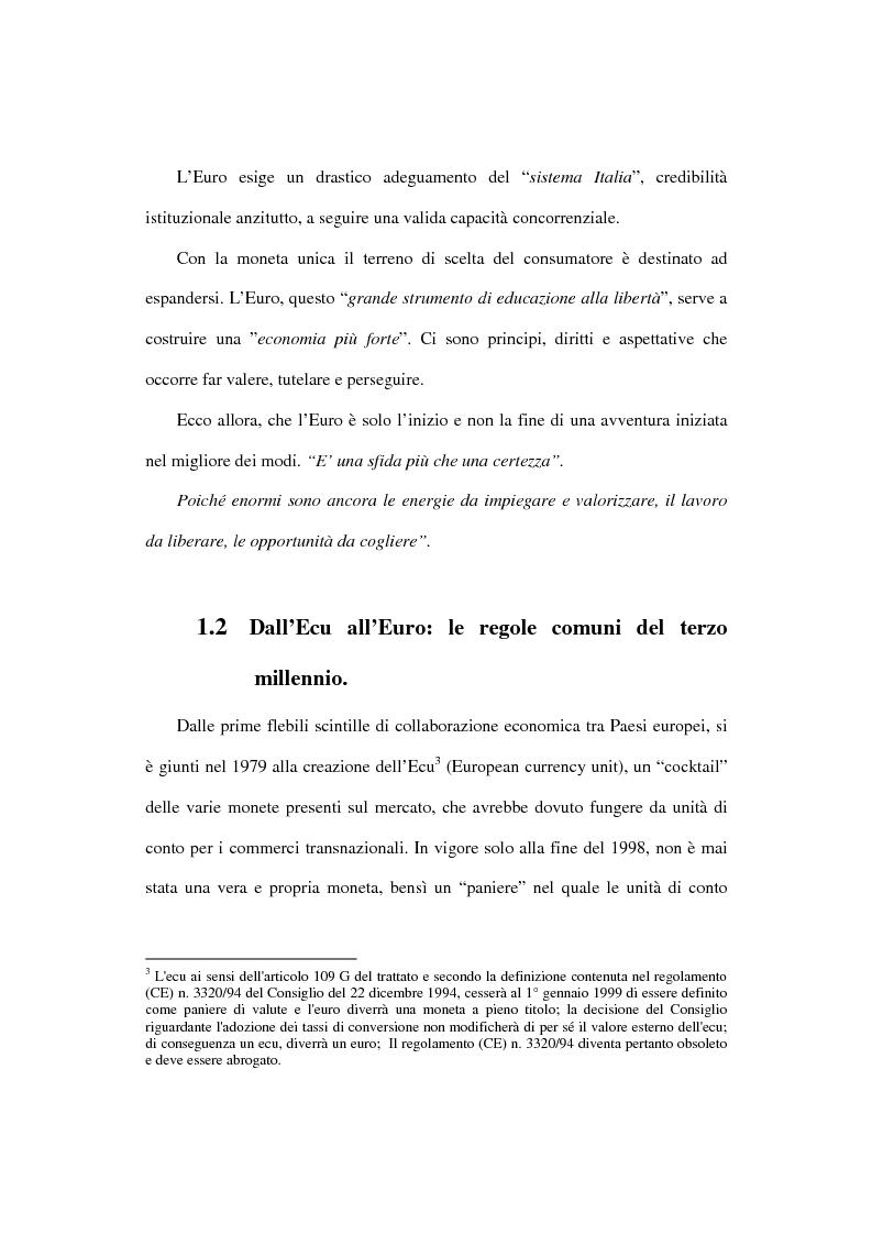 Anteprima della tesi: L'euro e i cittadini: aspettative e timori, Pagina 12